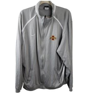 Nike Dri Fit Gray White Iowa State Jacket Size XXL